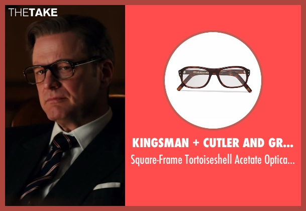 Cutler and Gross brown glasses from Kingsman: The Secret Service seen with Colin Firth (Harry Hart)