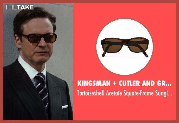 Cutler And Gross brown sunglasses from Kingsman: The Secret Service seen with Colin Firth (Harry Hart)