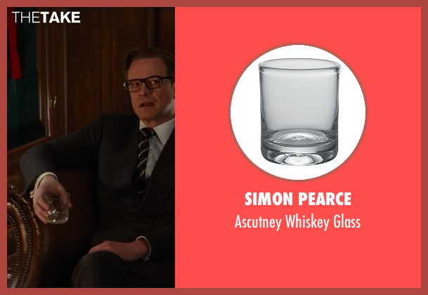 Simon Pearce glass from Kingsman: The Secret Service seen with Colin Firth (Harry Hart)