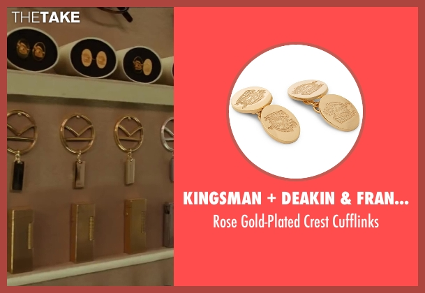 Kingsman + Deakin & Francis gold cufflinks from Kingsman: The Secret Service seen with Colin Firth (Harry Hart)