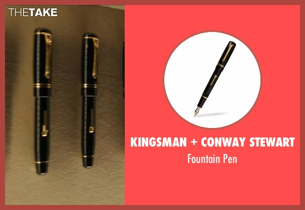 Conway Stewart pen from Kingsman: The Secret Service seen with Colin Firth (Harry Hart)