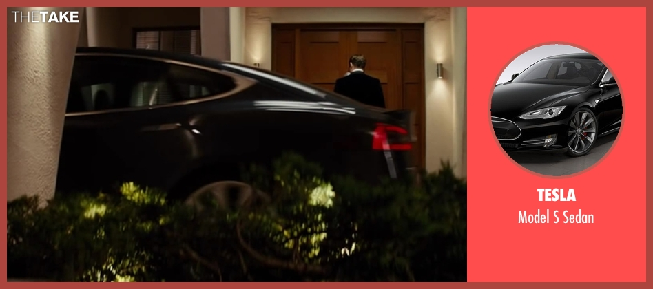 Tesla sedan from Kingsman: The Secret Service seen with Colin Firth (Harry Hart)