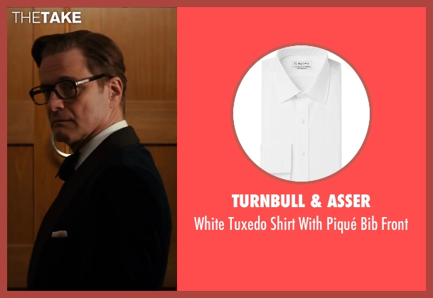 Turnbull & Asser white front from Kingsman: The Secret Service seen with Colin Firth (Harry Hart)