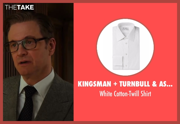 Kingsman + Turnbull & Asser white shirt from Kingsman: The Secret Service seen with Colin Firth (Harry Hart)