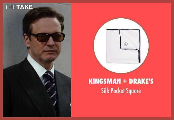 Drake's white square from Kingsman: The Secret Service seen with Colin Firth (Harry Hart)
