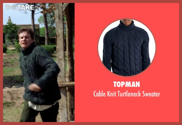 Topman blue sweater from Love Actually seen with Colin Firth (Jamie)