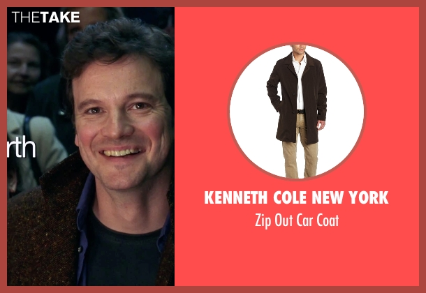 Kenneth Cole New York brown coat from Love Actually seen with Colin Firth (Jamie)