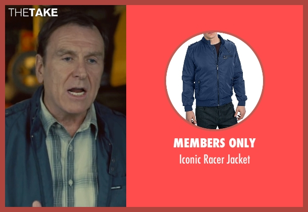 Members Only blue jacket from Trainwreck seen with Colin Quinn (Gordon)