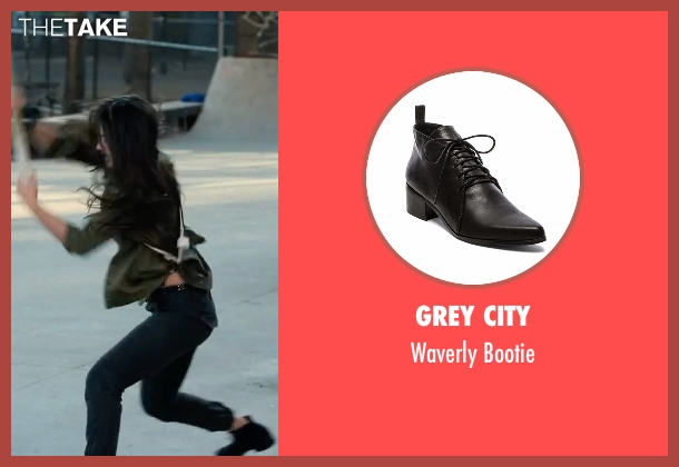 Grey City black bootie from Marvel's Iron Fist seen with Colleen Wing (Jessica Henwick)