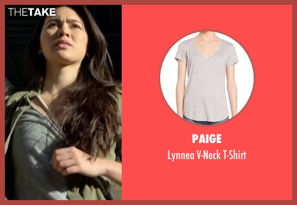 Paige gray t-shirt from Marvel's Iron Fist seen with Colleen Wing (Jessica Henwick)