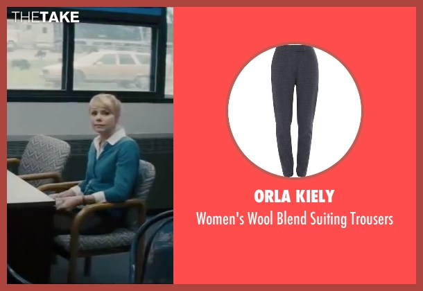 Orla Kiely gray trousers from Interstellar seen with Collette Wolfe (Ms. Kelly)