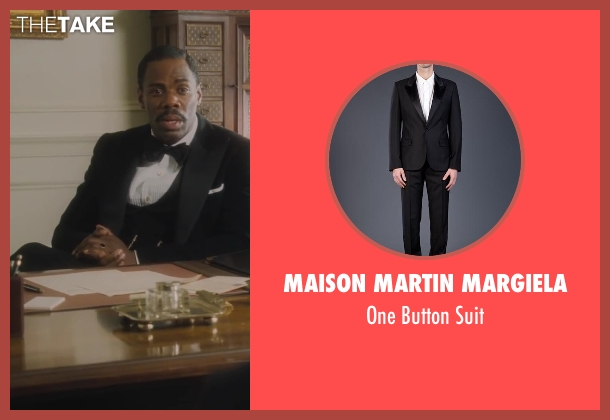 Maison Martin Margiela black suit from Lee Daniels' The Butler seen with Colman Domingo (Freddie Fallows)