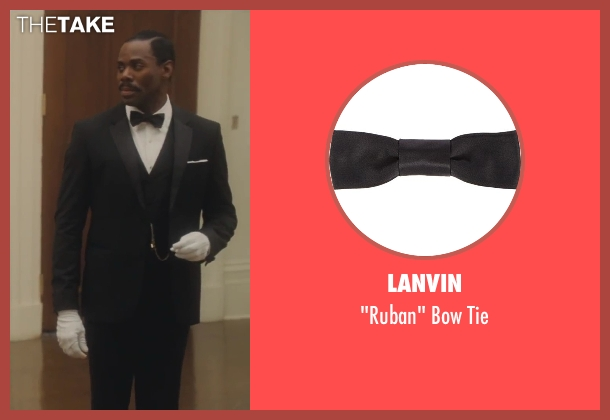Lanvin black tie from Lee Daniels' The Butler seen with Colman Domingo (Freddie Fallows)