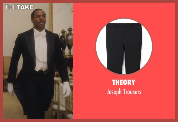 Theory black trousers from Lee Daniels' The Butler seen with Colman Domingo (Freddie Fallows)