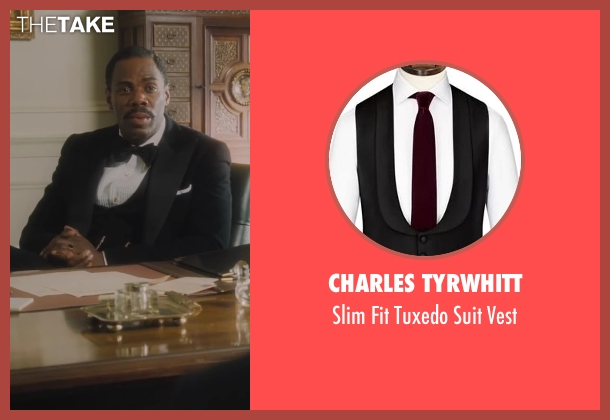 Charles Tyrwhitt black vest from Lee Daniels' The Butler seen with Colman Domingo (Freddie Fallows)