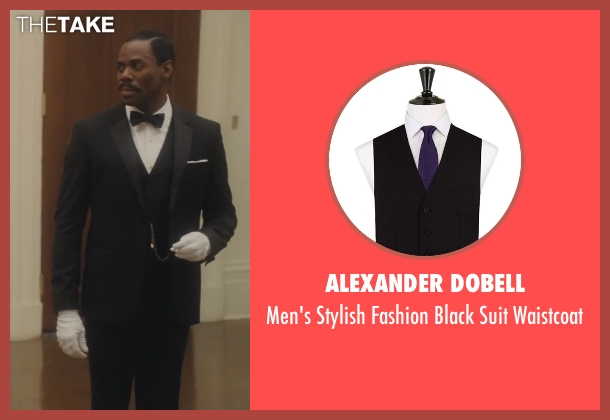 Alexander Dobell black waistcoat from Lee Daniels' The Butler seen with Colman Domingo (Freddie Fallows)