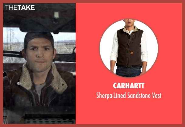 Carhartt brown vest from The Ranch seen with Colt Bennett (Ashton Kutcher)