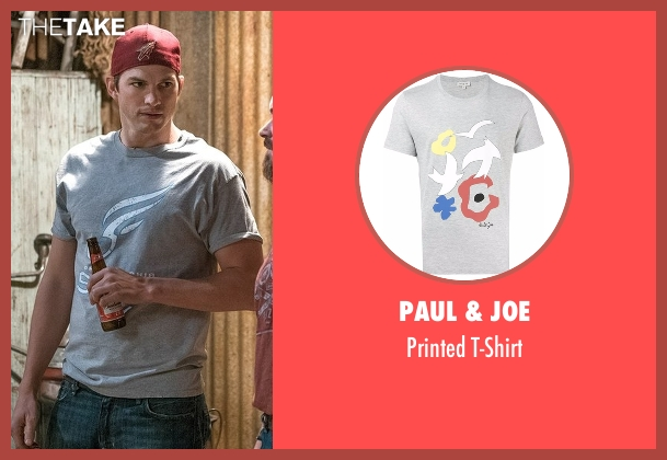 Paul & Joe gray t-shirt from The Ranch seen with Colt Bennett (Ashton Kutcher)