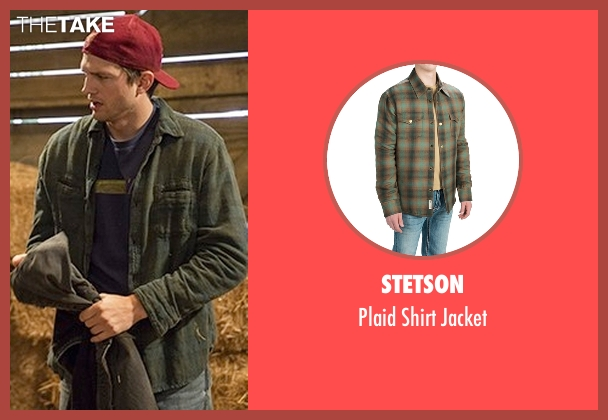 Stetson green jacket from The Ranch seen with Colt Bennett (Ashton Kutcher)