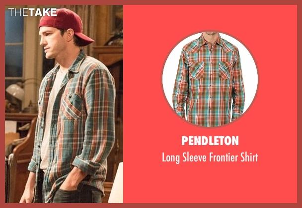 Pendleton orange shirt from The Ranch seen with Colt Bennett (Ashton Kutcher)