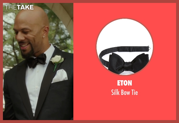 Eton black tie from Barbershop: The Next Cut seen with Common (Rashad)