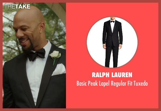 Ralph Lauren black tuxedo from Barbershop: The Next Cut seen with Common (Rashad)
