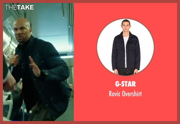G-Star black overshirt from John Wick: Chapter 2 seen with Common (Cassian)