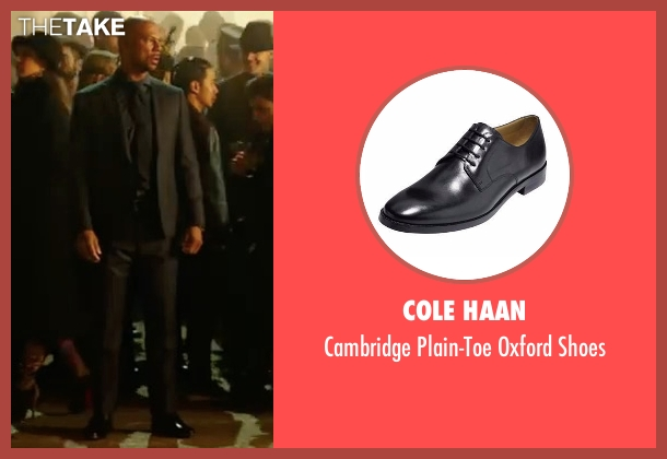 Cole Haan black shoes from John Wick: Chapter 2 seen with Common (Cassian)