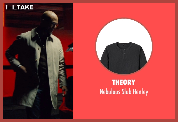 Theory black henley from Run All Night seen with Common (Mr. Price)