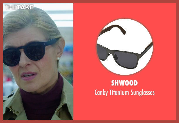 Shwood black sunglasses from American Ultra seen with Connie Britton (Victoria Lasseter)