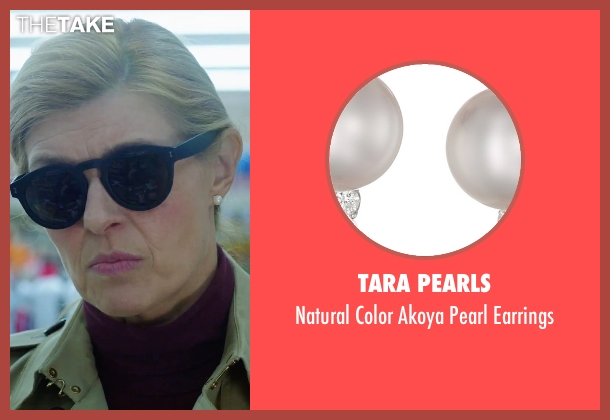 Tara Pearls earrings from American Ultra seen with Connie Britton (Victoria Lasseter)