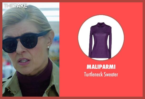 Maliparmi purple sweater from American Ultra seen with Connie Britton (Victoria Lasseter)