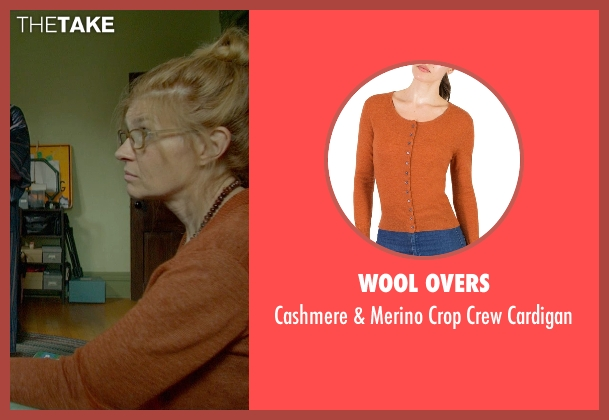 Wool Overs orange cardigan from Me and Earl and the Dying Girl seen with Connie Britton (Greg's Mom)