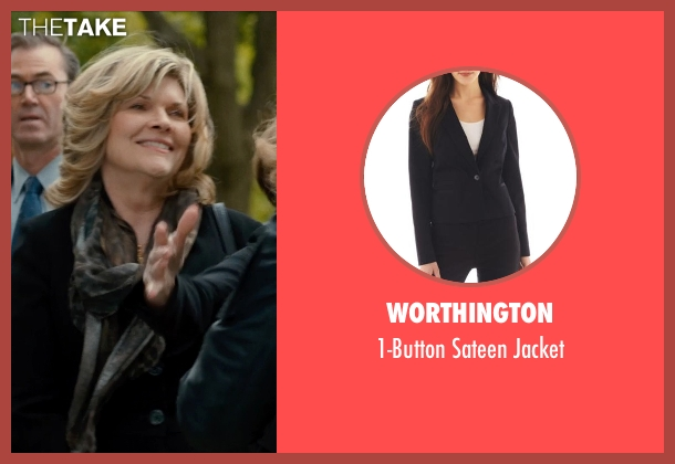 WORTHINGTON black jacket from This Is Where I Leave You seen with Connie Britton (Tracy)