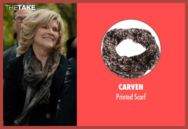 CARVEN brown scarf from This Is Where I Leave You seen with Connie Britton (Tracy)