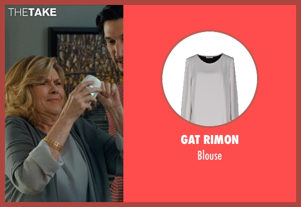 GAT RIMON gray blouse from This Is Where I Leave You seen with Connie Britton (Tracy)