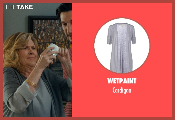 WETPAINT gray cardigan from This Is Where I Leave You seen with Connie Britton (Tracy)