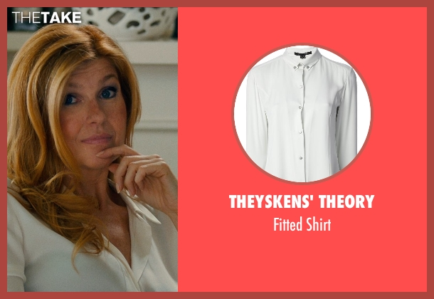 THEYSKENS' THEORY white shirt from This Is Where I Leave You seen with Connie Britton (Tracy)
