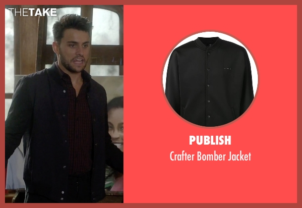 Publish black jacket from How To Get Away With Murder seen with Connor Walsh (Jack Falahee)