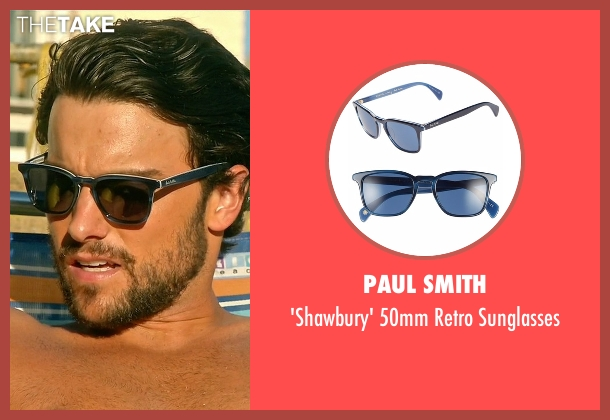Paul Smith  blue sunglasses from How To Get Away With Murder seen with Connor Walsh (Jack Falahee)