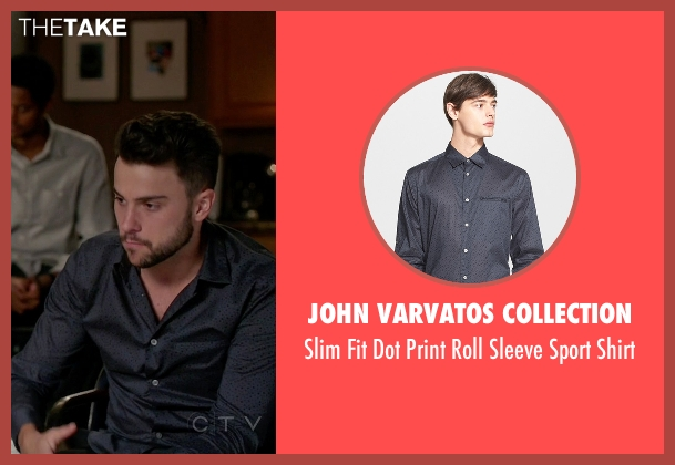 John Varvatos Collection  gray shirt from How To Get Away With Murder seen with Connor Walsh (Jack Falahee)
