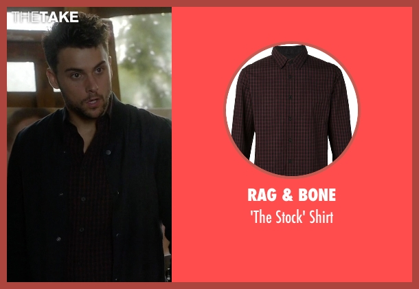 Rag & Bone red shirt from How To Get Away With Murder seen with Connor Walsh (Jack Falahee)