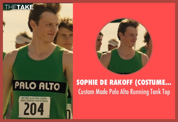 Sophie De Rakoff (Costume Designer) green top from McFarland, USA seen with Connor Weil (Palo Alto Runner #1)