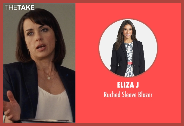 Eliza J black blazer from Entourage seen with Constance Zimmer (Dana Gordon)