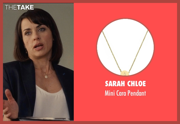 Sarah Chloe gold pendant from Entourage seen with Constance Zimmer (Dana Gordon)