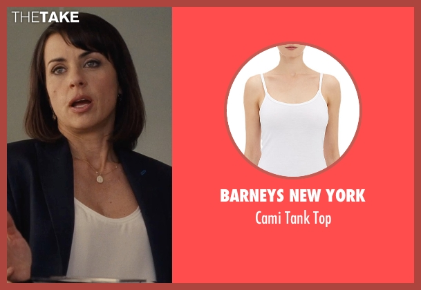 Barneys New York white top from Entourage seen with Constance Zimmer (Dana Gordon)