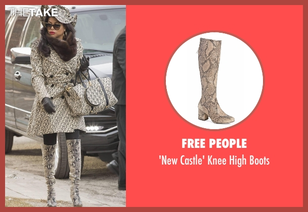 Free People beige boots from Empire seen with Cookie Lyon (Taraji P. Henson)
