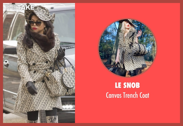 Le Snob beige coat from Empire seen with Cookie Lyon (Taraji P. Henson)