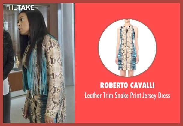 Roberto Cavalli beige dress from Empire seen with Cookie Lyon (Taraji P. Henson)