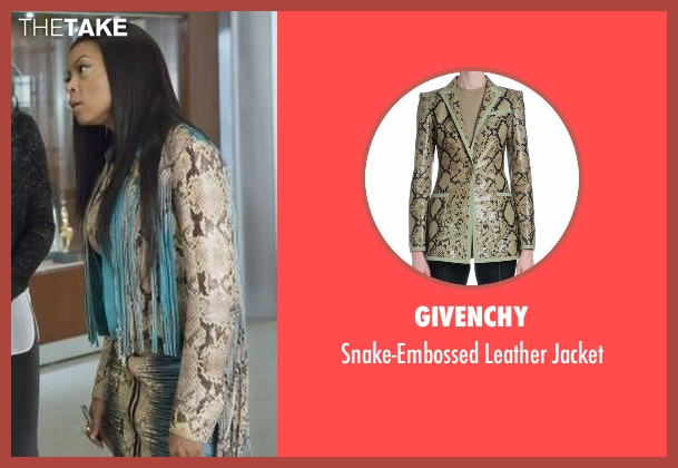 Givenchy beige jacket from Empire seen with Cookie Lyon (Taraji P. Henson)
